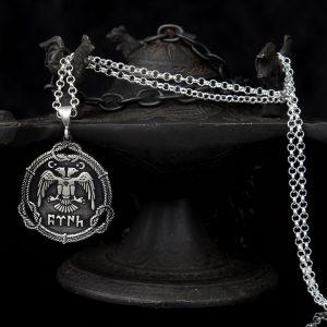 925 Sterling Silver Eagle Shape Men's Necklace