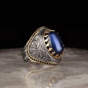 خاتم فضة عيار 925 مرصع بحجر زيركون المتألق