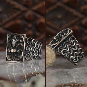 خاتم فضة عيار 925 نسج الفضة